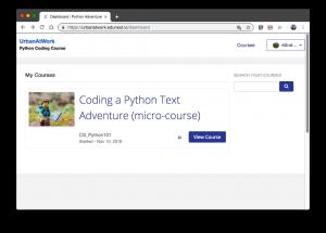 Python Micro Course screen